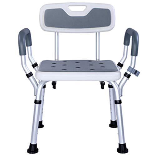 KPL- Taburete Silla de Ducha Asiento de baño/Banco de Asiento de Taburete de Ducha/Altura Ajustable/Herramienta de baño médico para discapacitados, Ancianos, bariátricos (150kg)