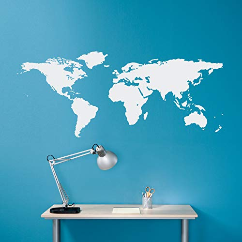 Wereldkaart Muursticker - Geografie Muur Kunst - Kaart Decal - Kantoor Decor - Medium 22