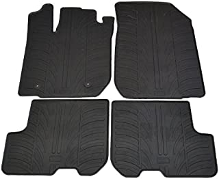 Universal Coche Tapetes-Negro Con Gris Trim para Dacia Sandero Stepway DCV