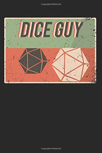 Dice Guy: Nice Guy D20 Game Dice   Pen and Paper Roleplay Notebook