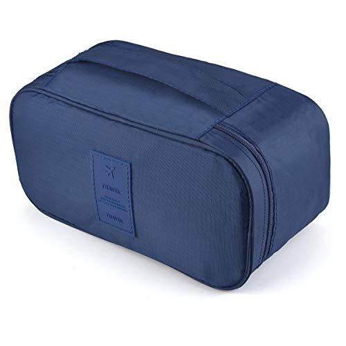 Reise Multifunktions BH Tasche, Unterwäsche Tasche, Tragbare Handtasche für Damen & Höschen Tasche Pouch Organizer-Tibetisches Blau
