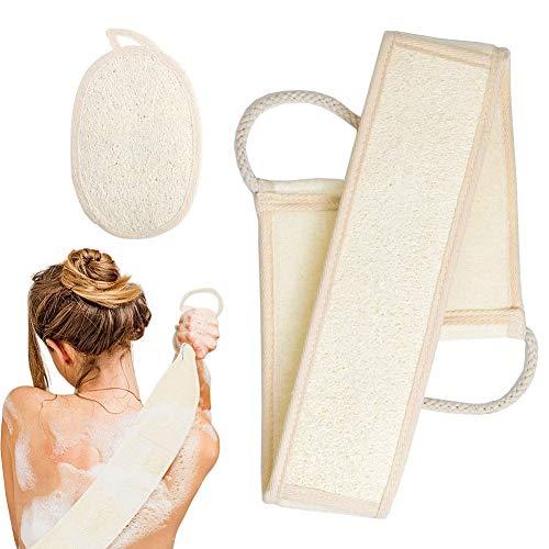 Scrubber in spugna di luffa,set da vasca, guanti,spugna biodegradabile,spugna da doccia naturale,usato per la cura del corpo, massaggio,set in due pezzi anti-peeling