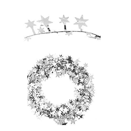 7,5 m Star Garland Assort Farbe Lametta Kranz für Christbaumschmuck für Home Wedding Party Ornament(Splitter)