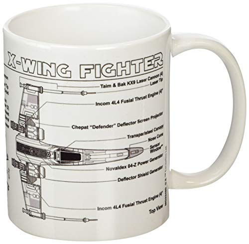 Pyramid International Star Wars Taza X-Wing Fighter Sketch