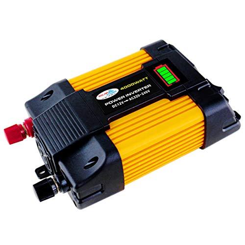 Inversor de corriente de 500 vatios 12 V a 110 V / 220 V, inversor de coche de onda sinusoidal modificada, con 2 USB 3 enchufes universales Adaptador de encendedor de cigarrillos en pinza de cocodri