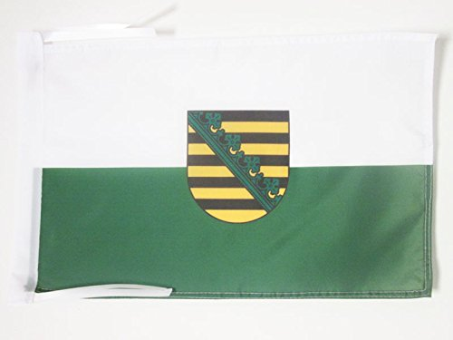 AZ FLAG Flagge Sachsen 45x30cm mit Kordel - Sachsen Fahne 30 x 45 cm - flaggen Top Qualität