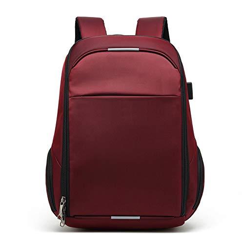 Mochila Backpack Impermeable Bolsa De Mayor Capacidad Mochila Hombres Carga USB Impermeable Antirrobo para Viajes Mochilas Escolares De Negocios Mujeres Casual 17 Pulgadas Roj Entrega Rápida Gratuita