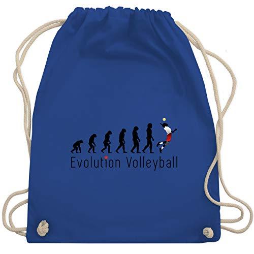 Shirtracer Evolution - Volleyball Evolution - Unisize - Royalblau - volleyball turnbeutel - WM110 - Turnbeutel und Stoffbeutel aus Baumwolle