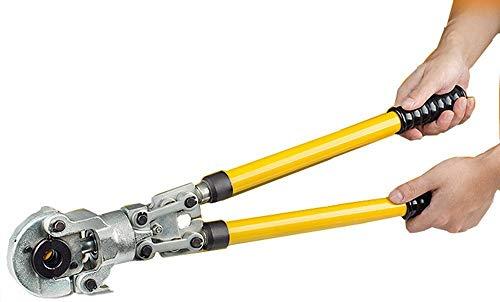 CGOLDENWALL Crimpadora Mecánica Manual CW-1632 Alicate de Engarzado 6T φ16-32mm con Asa Extensible para Tubo de Cobre/Aluminio/Plástico/Pex/PB