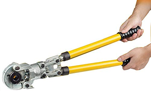 CGOLDENWALL HT-150 Mini Crimpadora Hidr/áulica 4-150mm/² Alicate Hidr/áulico para Terminales con V/álvula de Seguridad /& Cabelzal Giratorio de 180/°