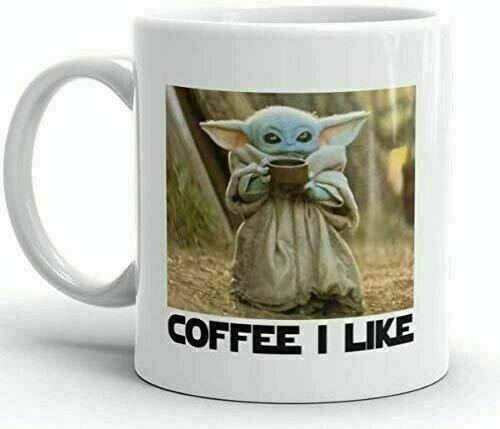 Taza de cerámica Baby Yoda (taza de café de 325 ml)