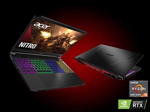 Acer Nitro 5 AN515-45-R9QH Gaming Laptop, AMD Ryzen 9 5900HX (8-Core) | NVIDIA GeForce RTX 3080 Laptop GPU | 15.6