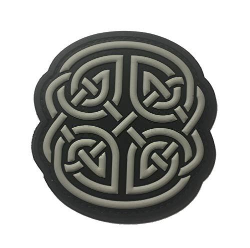 The Black Celtic Knot Shield 1 Morale PVC Patch 2.9' x 3'