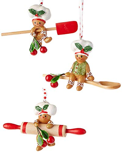 Kurt Adler 4-Inch Gingerbread Baking Tool Ornaments