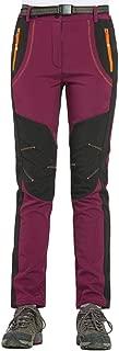 Women's Outdoor Mountain Waterproof Windproof Fleece Ski Snow Pants Hiking Trousers