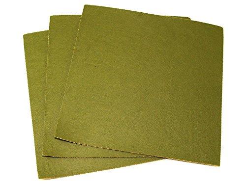 Minerva Crafts Feutrine acrylique autocollante 45,7 cm carré Vert mousse – par lot de 100