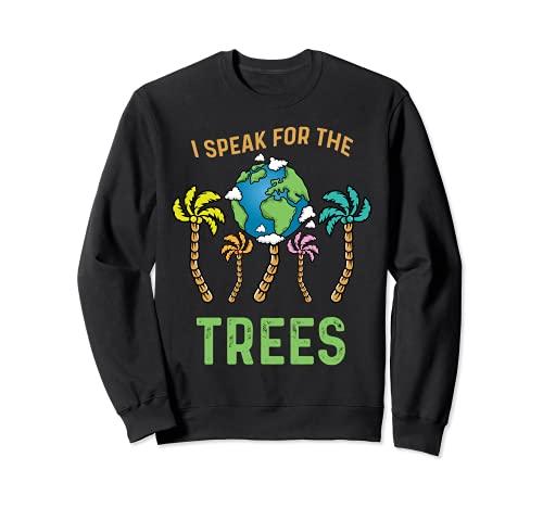 Hablo por los árboles Día de la Tierra Salvar la Tierra Inspiración Hippie Sudadera