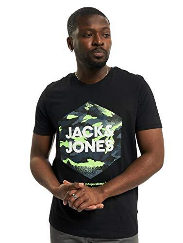 Camiseta JACK&JONES Hombre Negro 12182601 JJPRIME tee SS Crew Neck