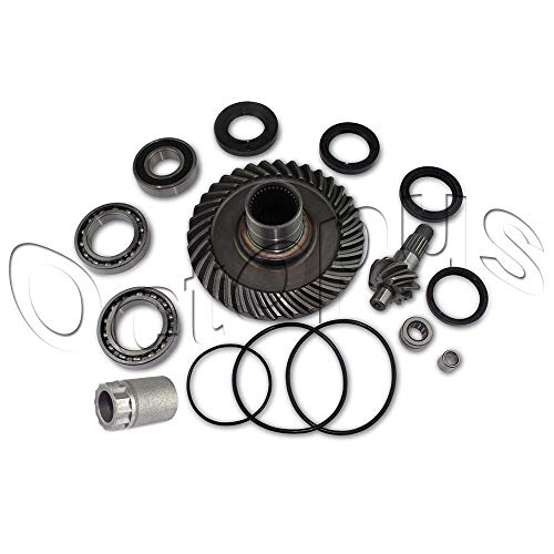 Compatible for HONDA TRX300FW 4x4 Fourtrax Rear Differential Ring & Pinion Gear + Bearing kit 88-00 Nut Tool Included (Aftermarket Parts)