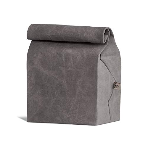 Product Image 1: Colony Co. Lunch Bag, Waxed Canvas, Durable, Plastic-Free, For Men, Women and Kids, Gray