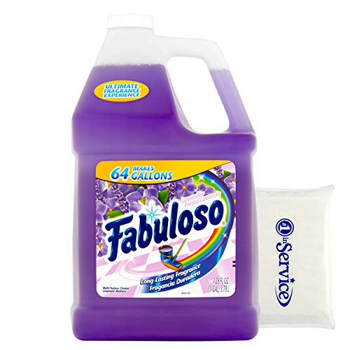 Fabuloso Makes 64 Gallons Lavender Purple Liquid Multi-Purpose Professional Household Non Toxic Fabolous Hardwood Floor Cleaner Refill + Number 1 In Service Wallet Tissue pack