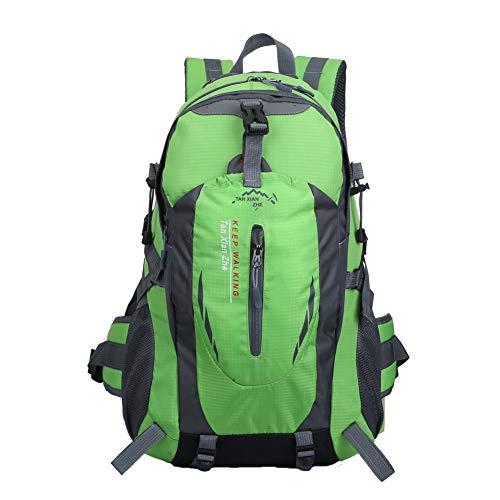 Bolsa de montañismo al aire libre para equipo de deportes al aire libre, multifunción, bolsa para botella de agua, bolsa impermeable para hombres y mujeres, verde