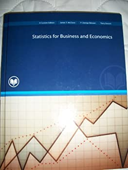 GBS 221 Statistics for Business and Economics (A Custom Edition for Rio Salado College) Taken From: Statistics for Business and Economics 10th Edition 0536508003 Book Cover