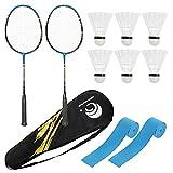PRETYZOOM 1 Set Adults Badminton Racchette con Palline Durable Racket Vestito Sportivo all...