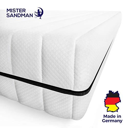 Mister Sandman ergonomische 7 Zonen Matratze, H2 H3 Härtegrad 2in1, Wendbar, Kaltschaum Rollmatratze Öko Tex (80 x 200 cm, H2H3 - Premium Doppeltuchbezug)
