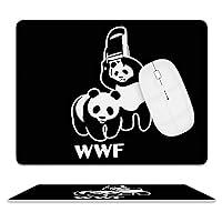 レザー 革 マウスパッド WWF おかしい パンダ 光学式マウス対応 滑り止め オフィス FPSゲーム デスクマット ゲーミングマウスパット まうすぱっど PCマット キーボードパッド 耐久性が良い おしゃれ マウスの精密度を上がる