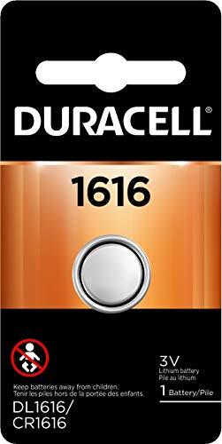 Duracell 3V Lithium Coin Batteries 1616 - 1 Count (DL1616BPK)