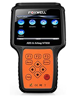 FOXWELL NT630 SRS Scan OBD2 Bi-Directional Automotive Diagnostic Code Reader ABS Auto Bleed Reset Tool OBD II Airbag Active Scanner (B072VGJ7S8)   Amazon price tracker / tracking, Amazon price history charts, Amazon price watches, Amazon price drop alerts