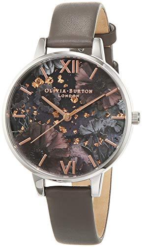 Olivia Burton Damen Analog Quarz Uhr mit Leder Armband OB16GD26