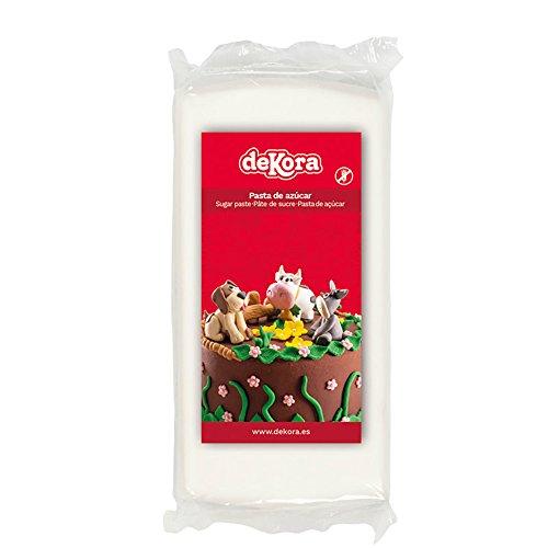 Dekora - Cobertura para Tartas de Fondant de Color Blanco - 250 gr