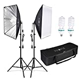Best Continuous Lighting Kits - PHOPIK Softbox Lighting Kit 2X20X28 inch Professional Continuous Review