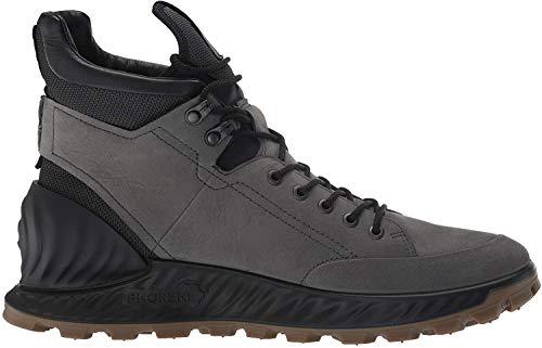 ECCO Men's Exostrike Hydromax Hiking Boot, Dark Shadow Yak Nubuck, 41 M EU (7-7.5 US)