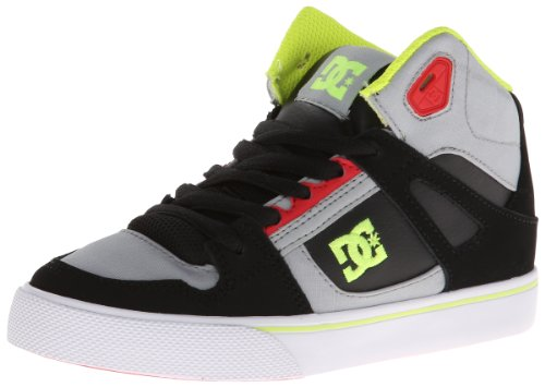 DC Jungen Spartan HIGH B Shoe GRF top, Grau (Grey/RED), 37 EU