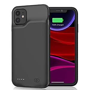 Battery Case For Iphone 11 6000mah Portable Rechargeable Battery Pack Charging Case Compatible With Iphone 11 61 Inch Extended Battery Charger Case