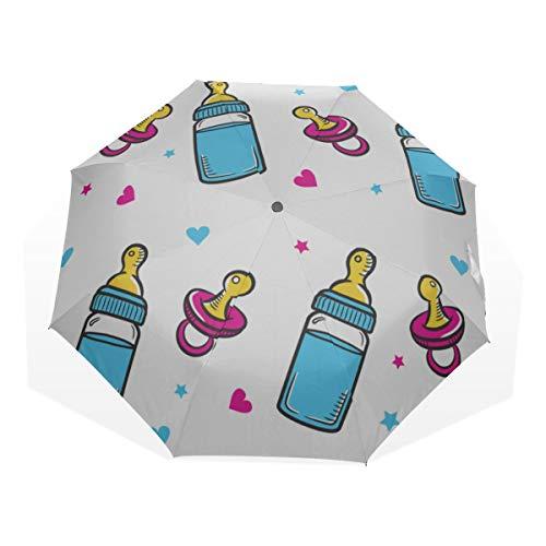 Le Meilleur Parapluie Solaire Bouteille de Lait pour bébé Délicat 3 parapluies d'art (Impression extérieure) Parapluie de Voyage de Mode
