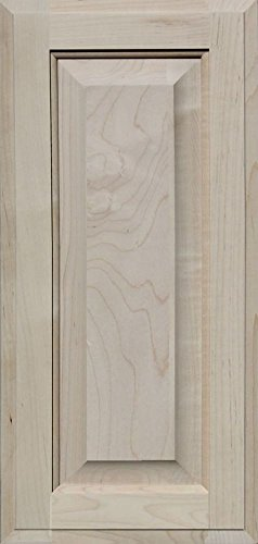 Unfinished Maple Cabinet Door, Square with Raised Panel by Kendor, 21H x 10W