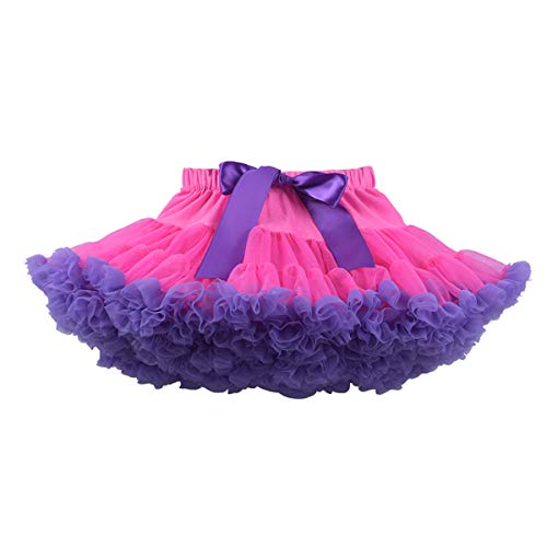 DaMohony - Falda Tutú de Capas para Niñas Falda de Tul Tutú Volantes para Bebés Niña para Danza Boda Ceremonia 0-10 Años