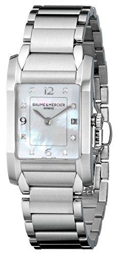 Baume & Mercier MOA10050 - Reloj de pulsera mujer, acero inoxidable, color plateado
