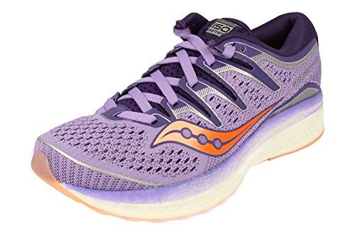 Saucony Women's Triumph ISO 5 Running Shoe, Purple/Peach, 5 M US