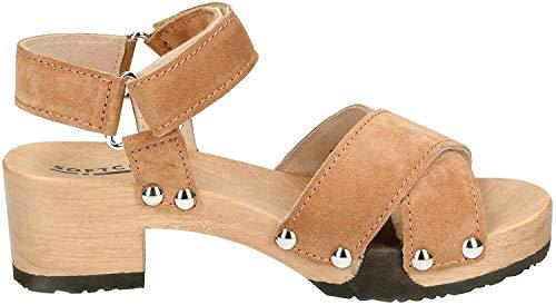 Softclox S3480 Palma - Damen Schuhe Sandaletten - Zimt, Größe:39 EU