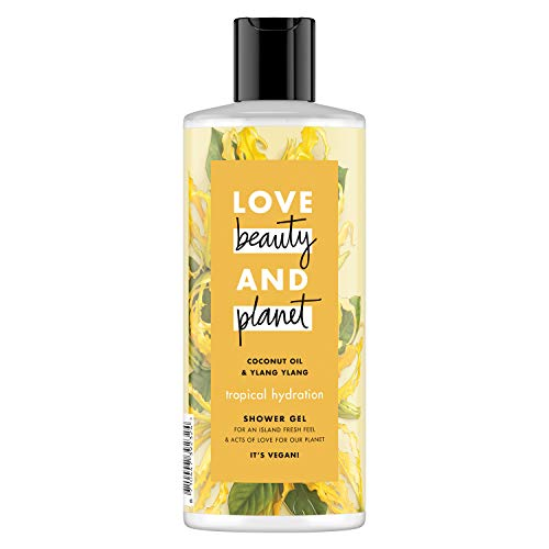 Love Beauty And Planet douchegel kokosolie en Ylang Ylang Tropical Hydration 500 ml, 6 stuks (6 x 500 ml)