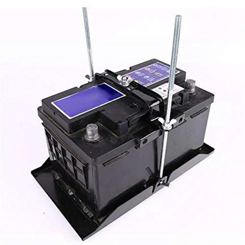 HXFANG Soporte de batería de Metal Soporte Ajustable Montaje Negro Plata 16CM-22.5CM Almacenamiento de automóviles Durable Práctico