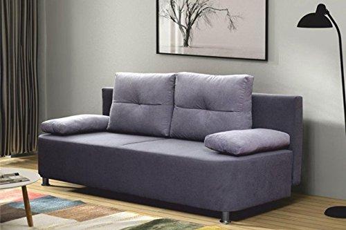 AVANTI TRENDSTORE KALA- Divano letto con cassettone integrato grigio, ca. LAP 196x76x90 cm