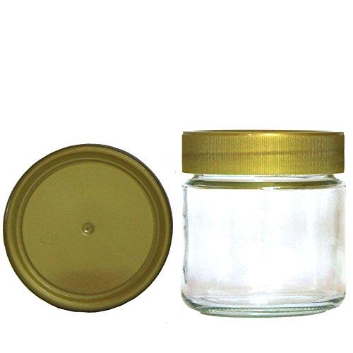 Germerott Bienentechnik 60 x Neutralglas 250g mit 68er Schraubdeckel Gold für Honig Preis pro Stück 0,61 Euro