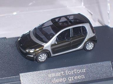 Smart For Four Forfour For 4 Dunkel GrÜn Green Ho H0 1/87 Busch Modellauto Modell Auto