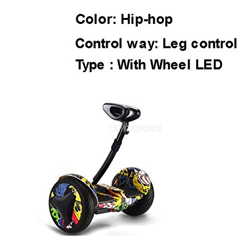 HNHM Selbstausgleichender Roller mit Bein- / Handsteuerung und doppeltem Antrieb Intelligentes elektrisches Luftkissenbrett Zweirad-Luftkissenbrett-Skateboard-Beinkontrolle